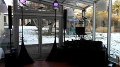 DJ stage v zimní zahradě
