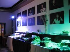 osvětlení rautových stolů