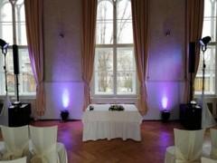 svatební obřad v sále
