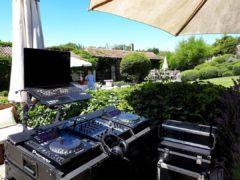 hudební produkce na terase