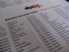 karaoke seznamy